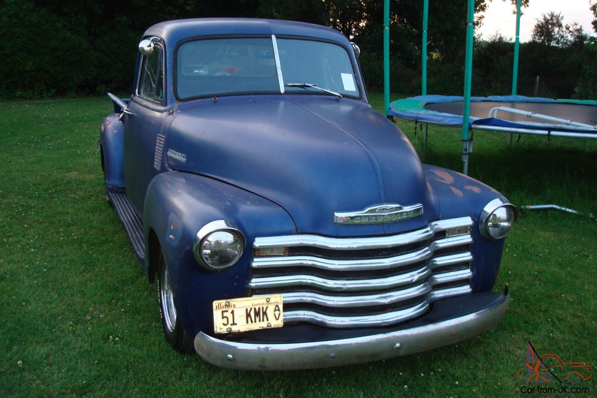 Chevy Bolt Seat Comfort >> 1951 CHEVROLET 3100 STEPSIDE...FITTED 350/V8 AUTO