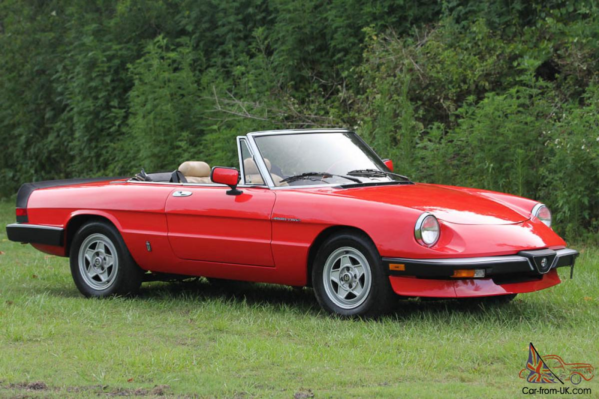 red alfa romeo spider veloce tan seats and top. Black Bedroom Furniture Sets. Home Design Ideas