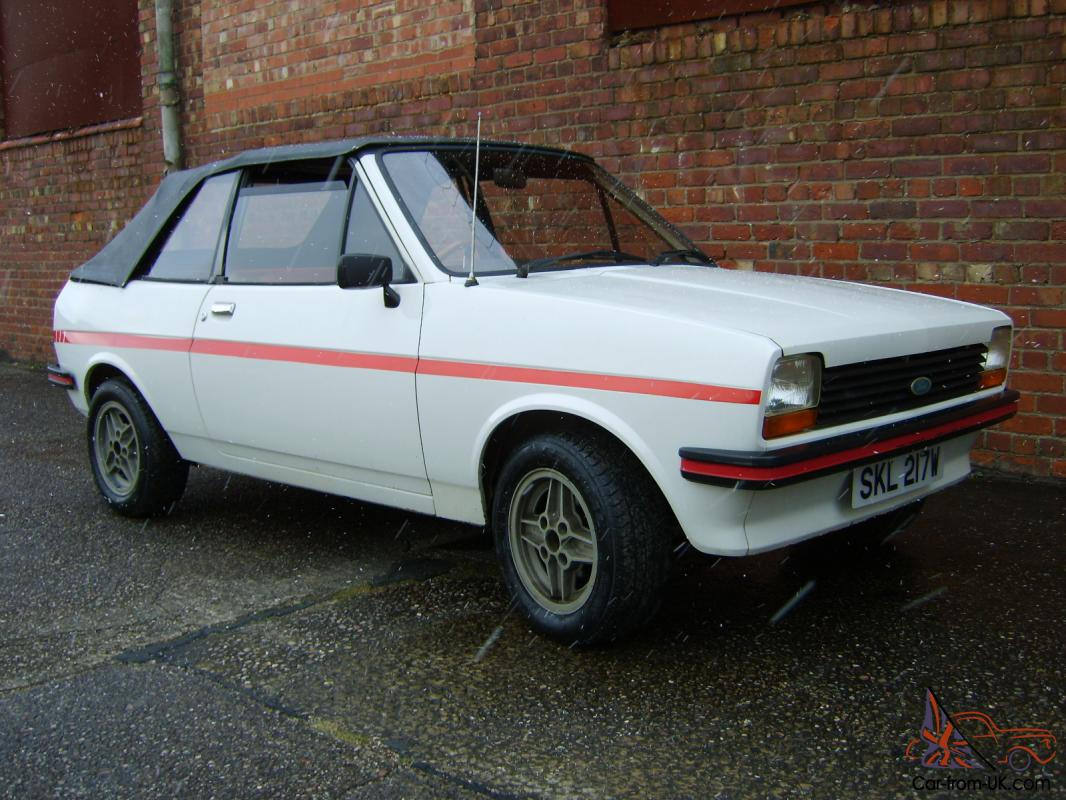 1980 ford fiesta mk1 crayford convertible 26000 miles only. Black Bedroom Furniture Sets. Home Design Ideas