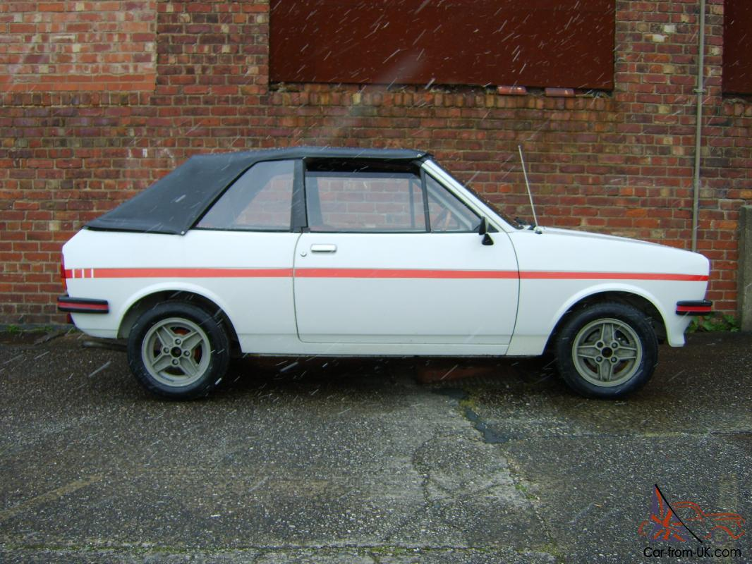 1980 ford fiesta mk1 crayford convertible 26000 miles only original condition. Black Bedroom Furniture Sets. Home Design Ideas