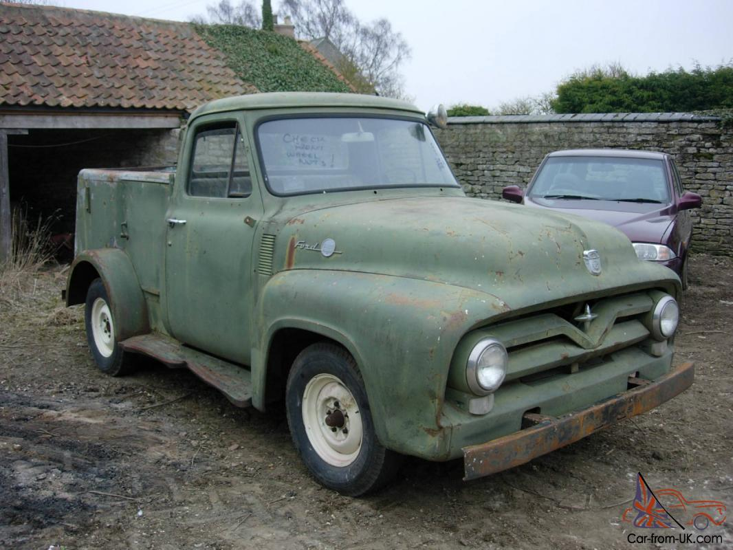 1955 Ford F100 Stepside Pickup Service Truck Restoration Project Pick Up For Sale