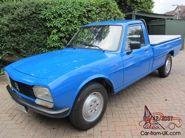1993 q reg peugeot 504 2 3 diesel pick up blue. Black Bedroom Furniture Sets. Home Design Ideas
