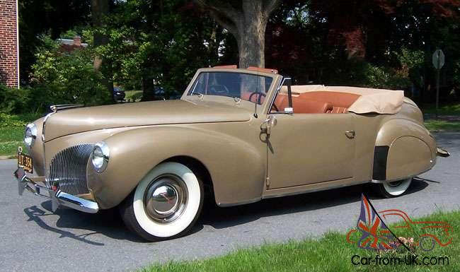 1940 lincoln continental convertible manual v12 rotisserie restoration tan. Black Bedroom Furniture Sets. Home Design Ideas
