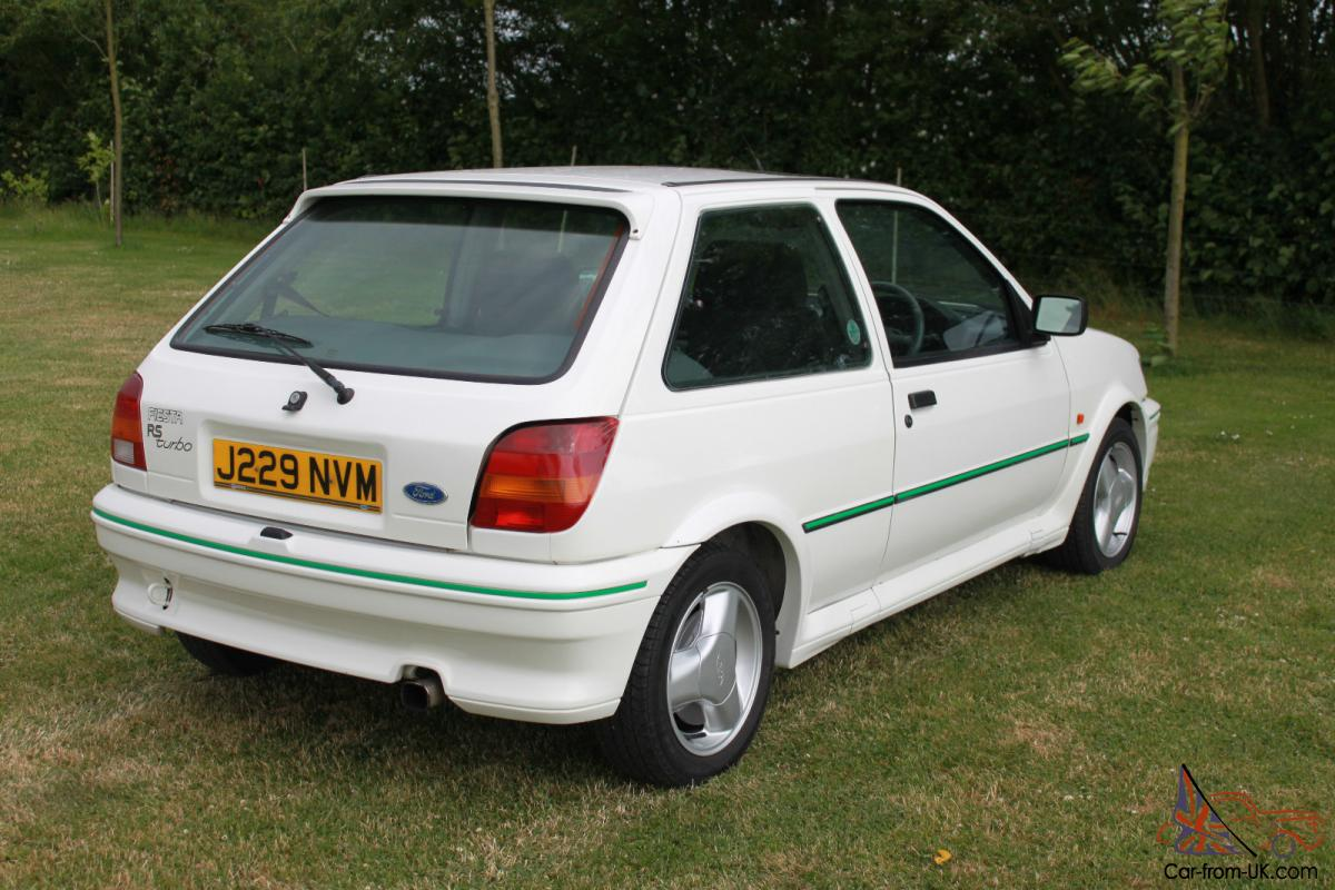 ford fiesta rs turbo 1991 only 18000 genuine miles one owner. Black Bedroom Furniture Sets. Home Design Ideas