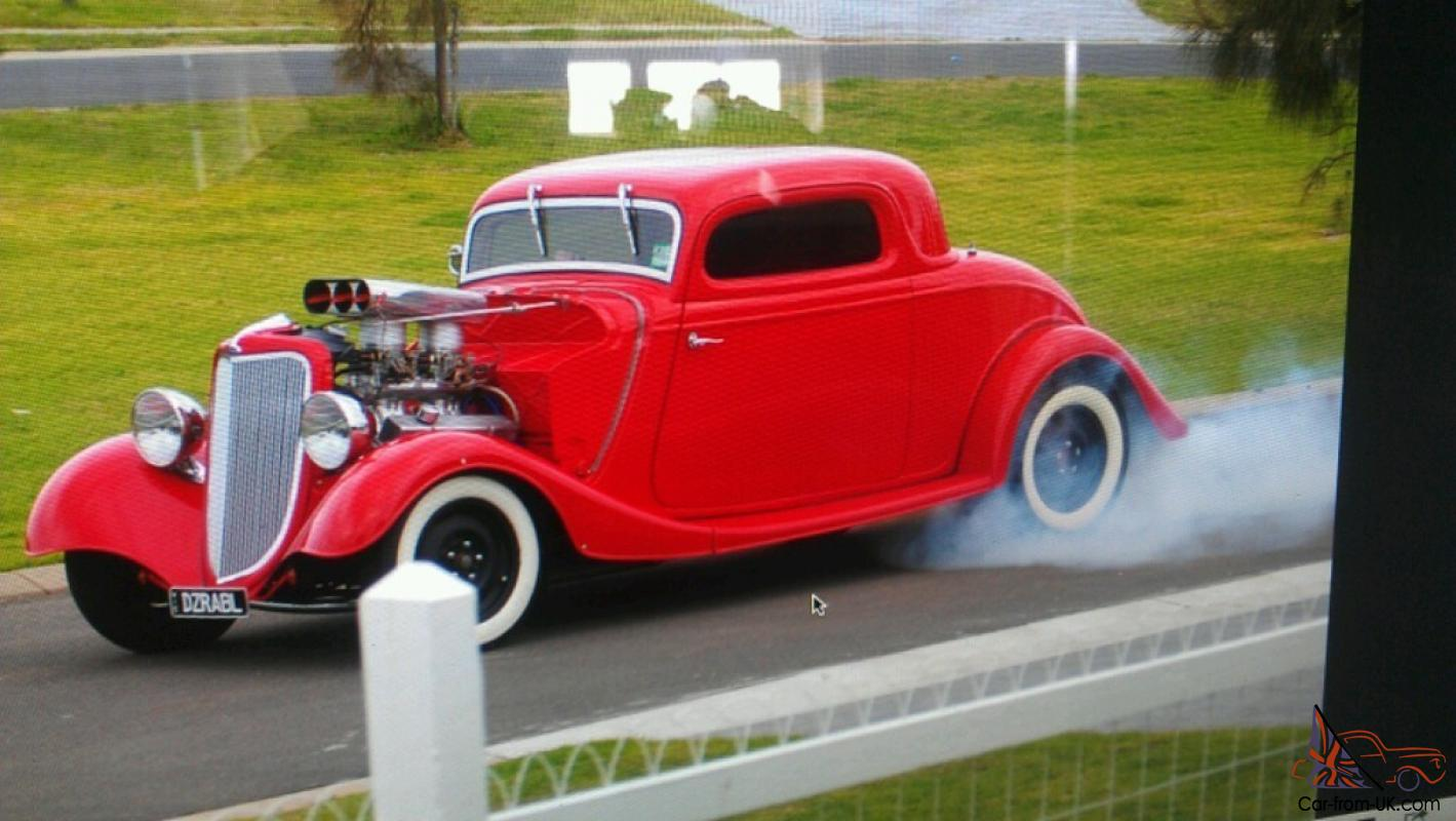 Ford 1934 Coupe 3 Window Hotrod 34 33 Tunnel RAM 9 Inch LSD 350 Chev ...