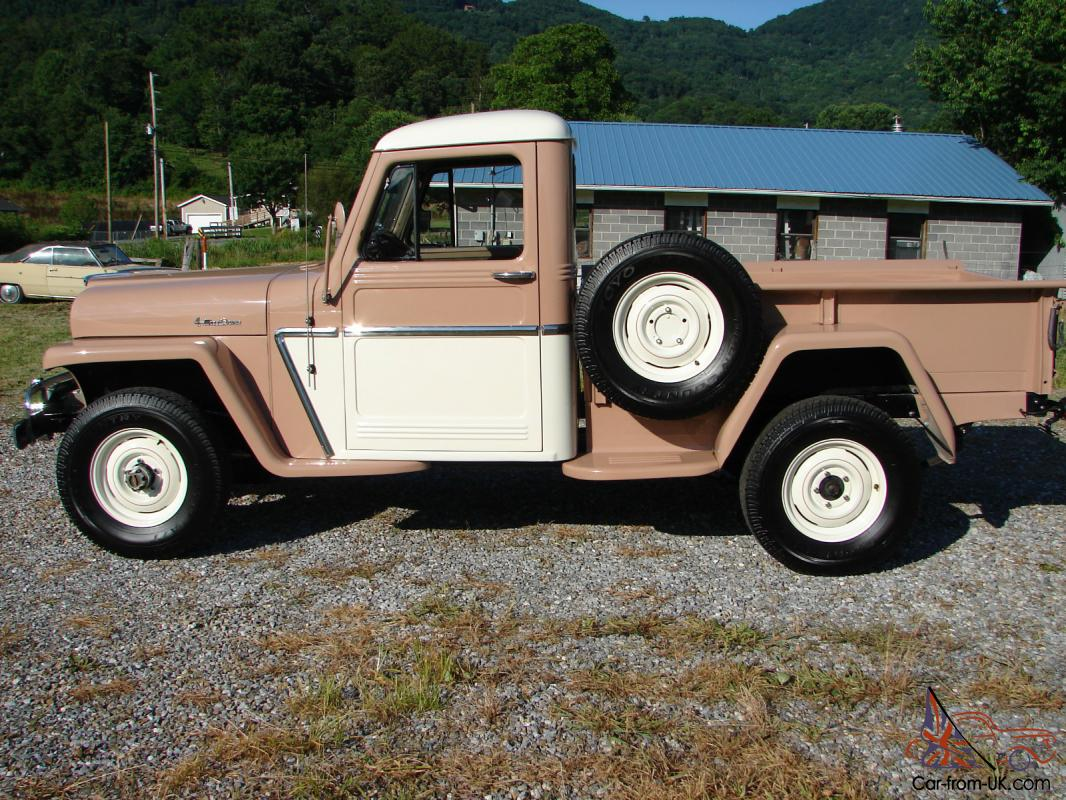 1960 Willys 4 Wheel Drive Pickup Jeep Serial Number Location
