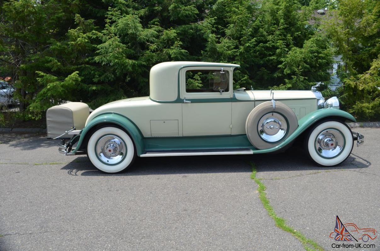 Packard 1930 740 Super 8 Rumble Seat Sport Coupe