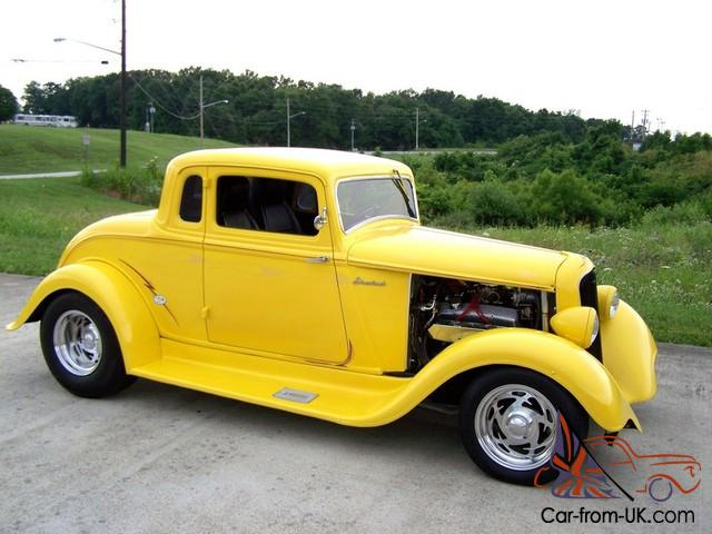 1933 Plymouth Coupe!! Yellow/Black!! 400/Auto!! PS,PB,A/C!! Steel Body ...
