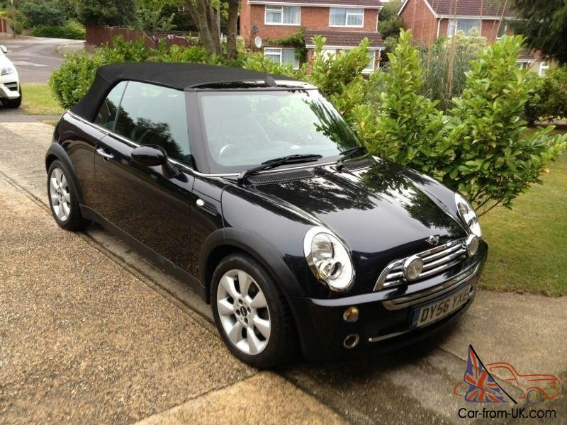 mini cooper convertible black 56 plate 1 6 chilli pack full black leather seats. Black Bedroom Furniture Sets. Home Design Ideas