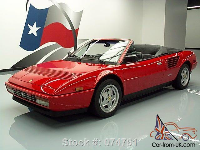 1988 ferrari mondial 3 2 cabriolet 4seater a c only 22k texas direct auto. Black Bedroom Furniture Sets. Home Design Ideas