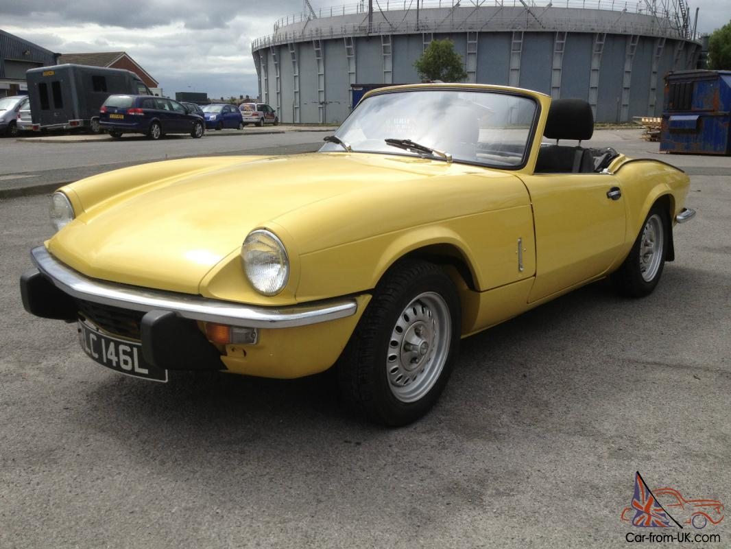 triumph spitfire mk4 mimosa yellow taxed and tested just restored. Black Bedroom Furniture Sets. Home Design Ideas