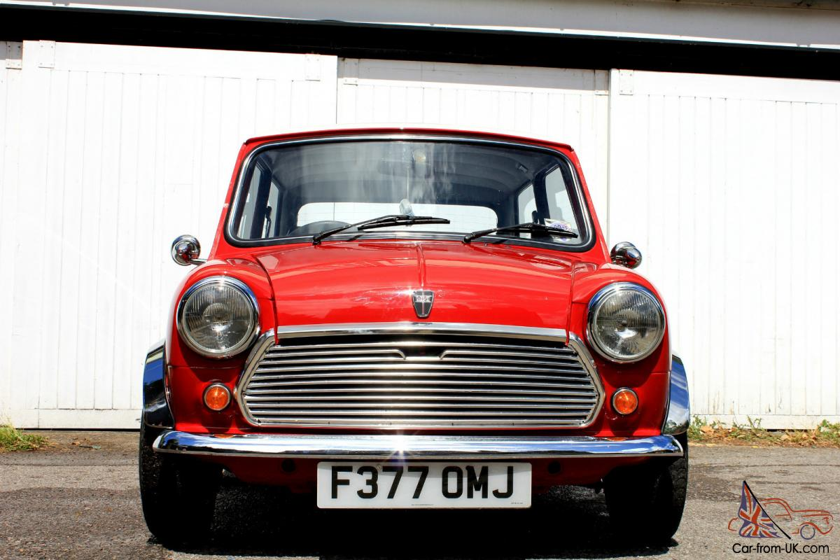 1989 AUSTIN MINI RACING FLAME RED/WHITE