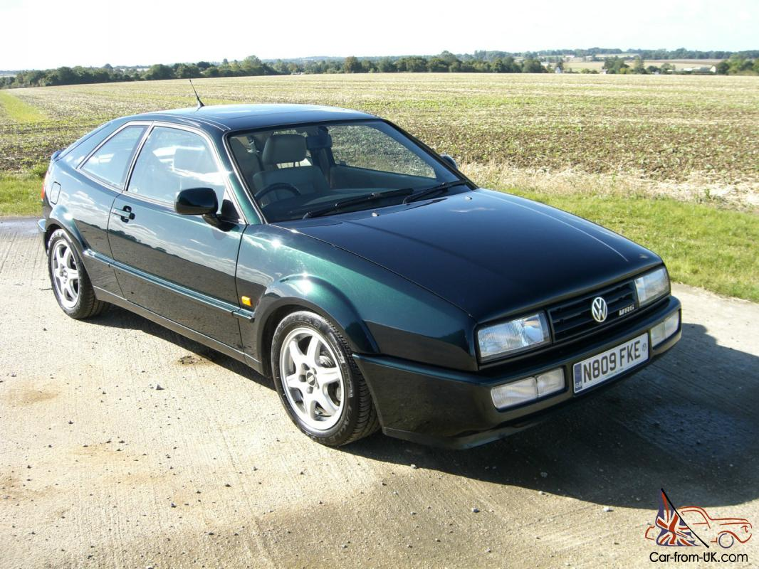 1995 vw corrado vr6 storm classic green 2 9l excellent 64000 mile engine. Black Bedroom Furniture Sets. Home Design Ideas