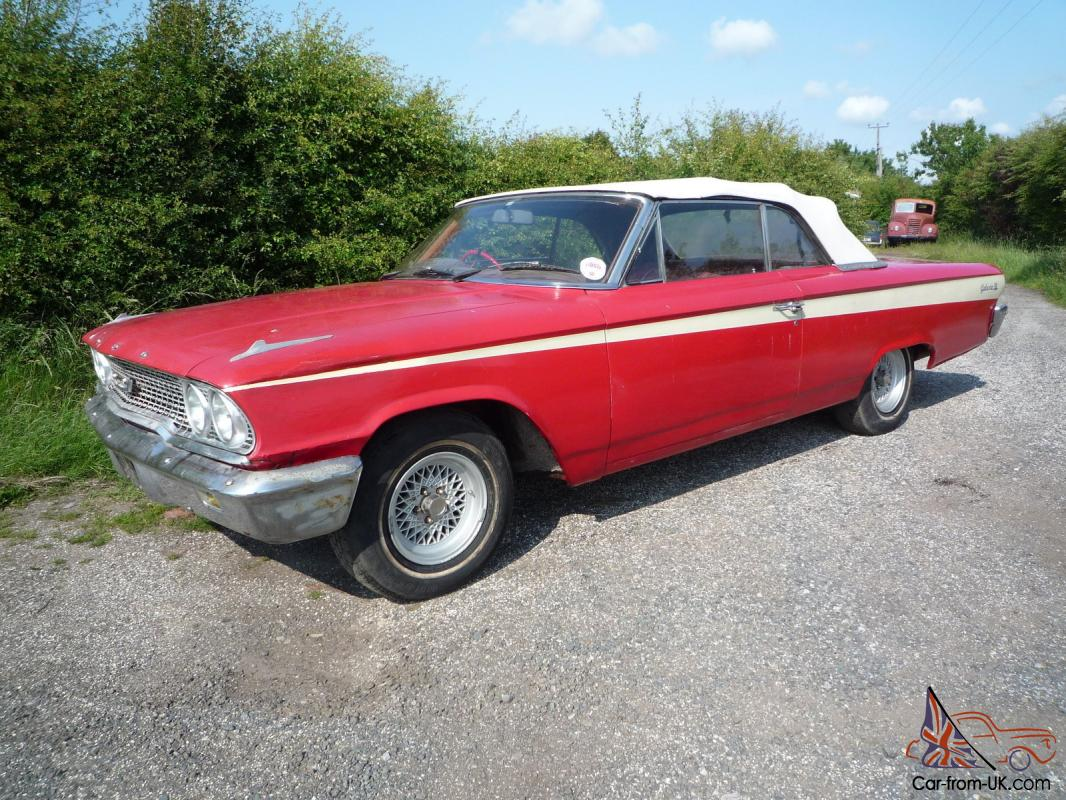 1963 rhd ford galaxie 500 convertible red for sale. Cars Review. Best American Auto & Cars Review