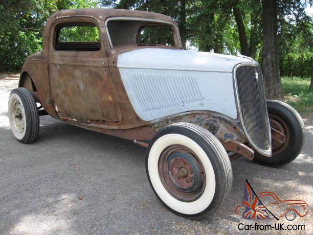 Here we have a 1933 ford 3 window coupe all steel and the real deal