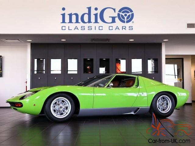 Restored 1969 Lamborghini Miura P400s Sv Specification Verde Lime