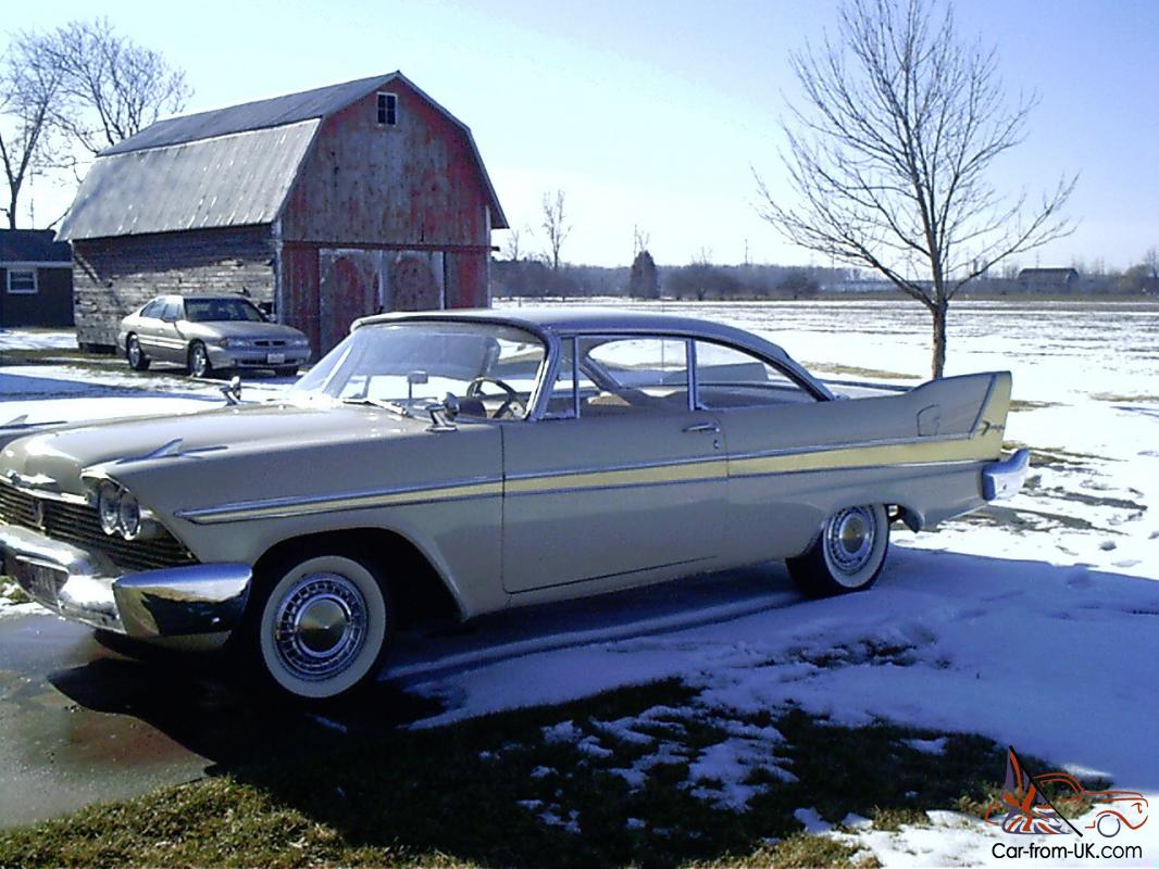 1958 Plymouth Fury For Sale >> 1958 Plymouth Fury
