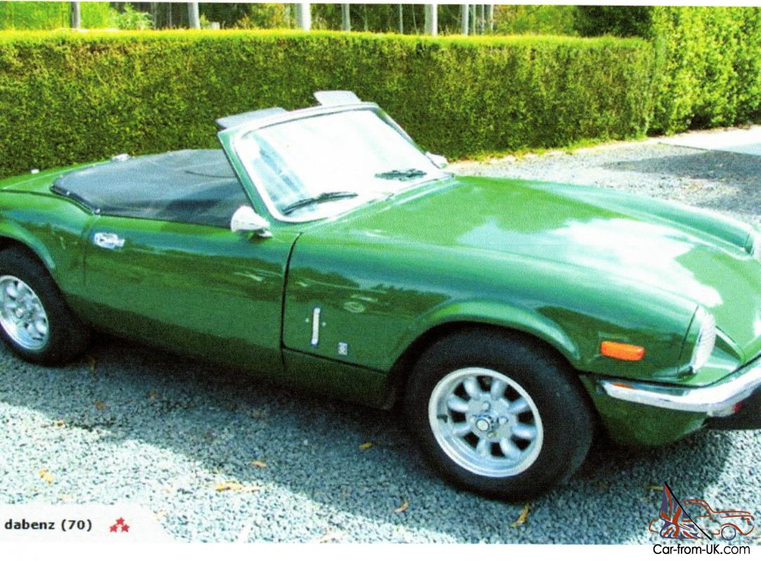 Triumph Spitfire 1973 Mk 4 Imported From New Zealand