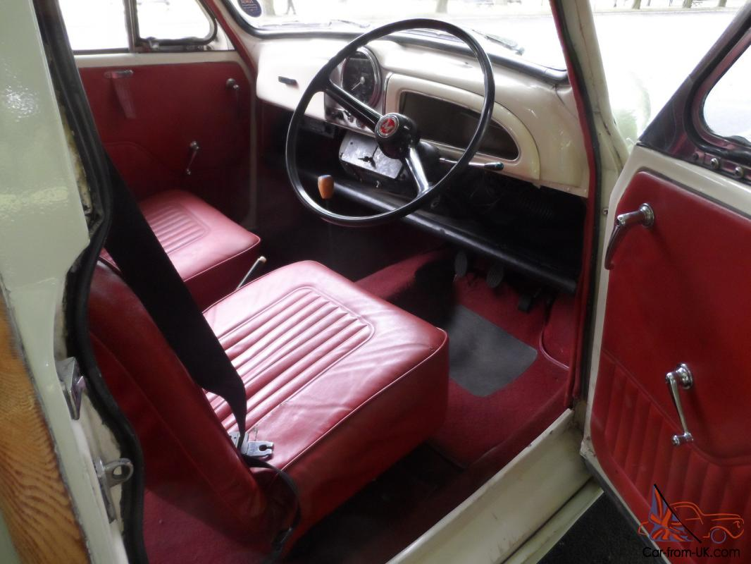 Classic 1969 Morris Minor Traveller Woody Old English White With Red Interior