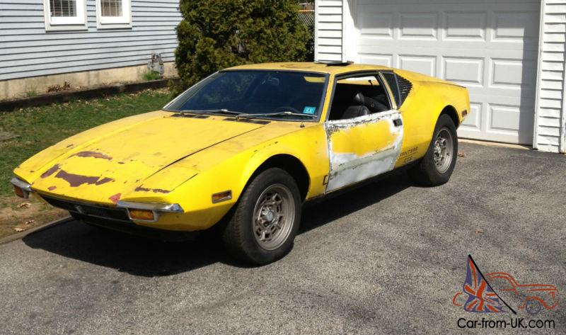 Detomaso Pantera For Sale >> 1972 Detomaso Pantera Project