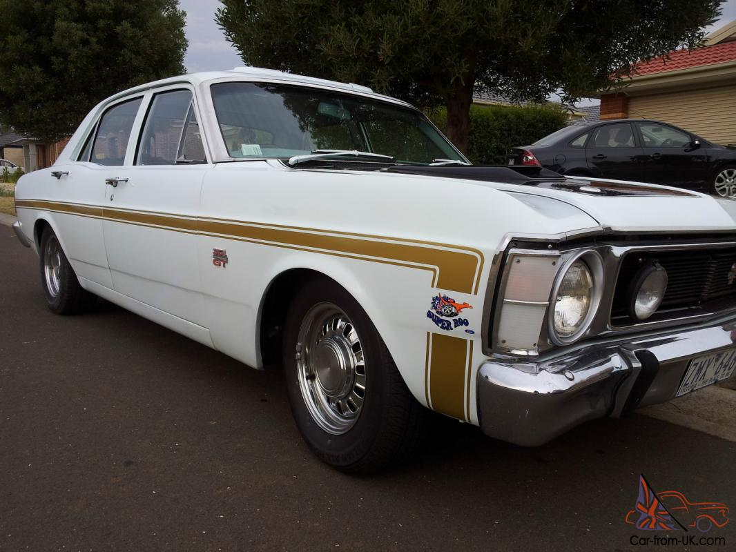 White Ford Falcon Xw Gt Mock Up 351 Cleveland 4 Speed