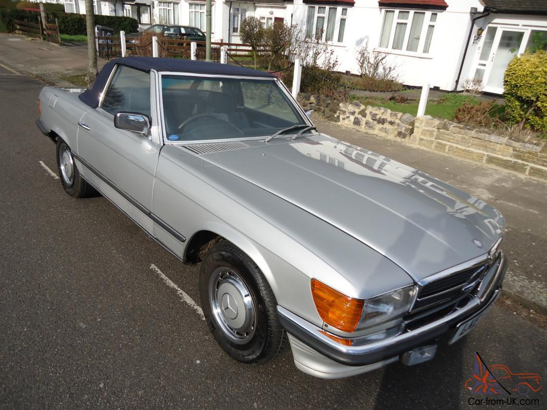 classic mercedes 350 sl w 107 1980 soft top hard top only 72000 miles. Black Bedroom Furniture Sets. Home Design Ideas