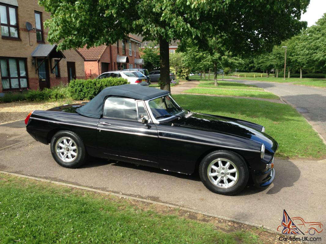 Mgb roadster 1980 black overdrive new wheels lotus seats sports exhaust