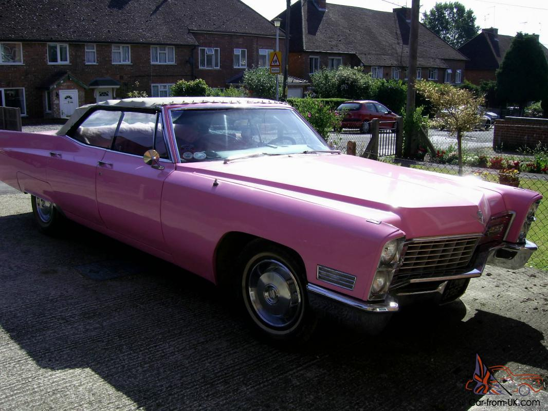 1967 1966 cadillac pink 4 door convertible sedan deville. Black Bedroom Furniture Sets. Home Design Ideas