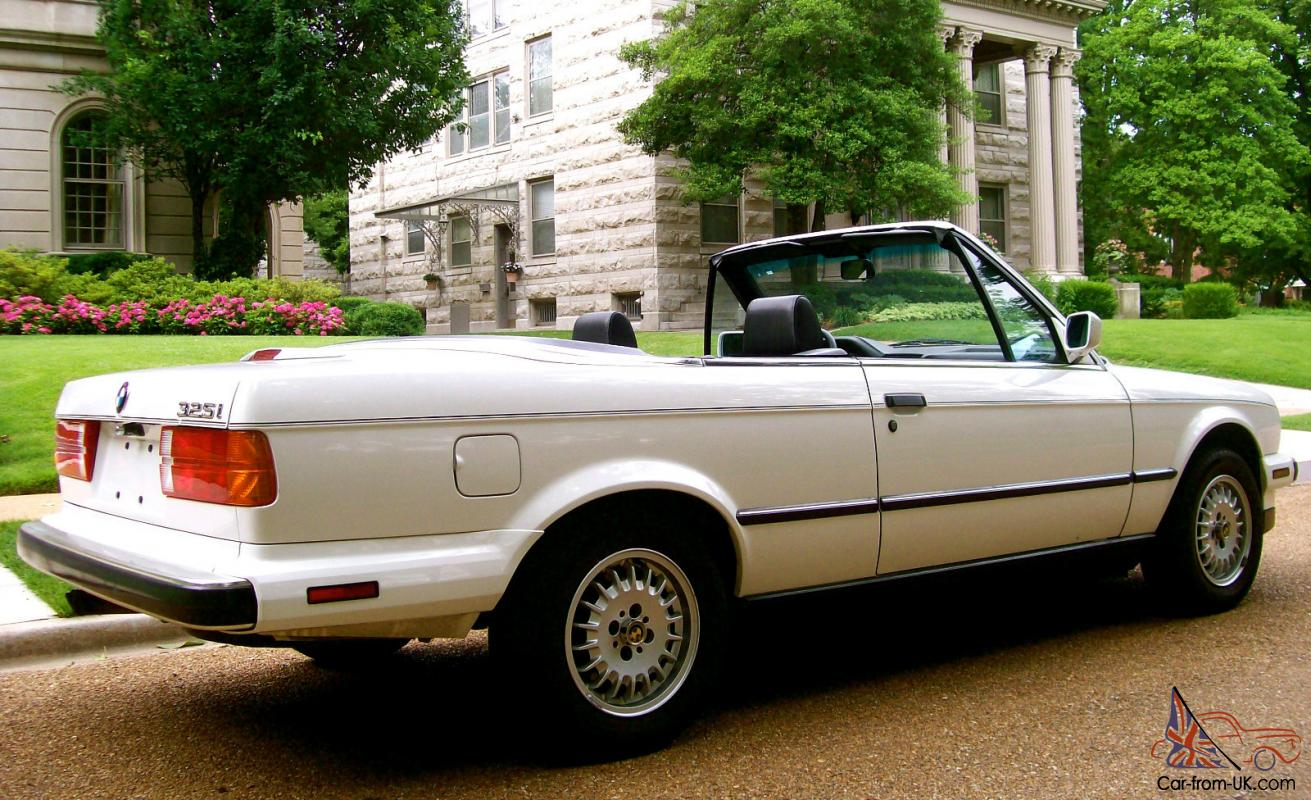1989 bmw 325 convertible one owner only 58k near mint condition. Black Bedroom Furniture Sets. Home Design Ideas
