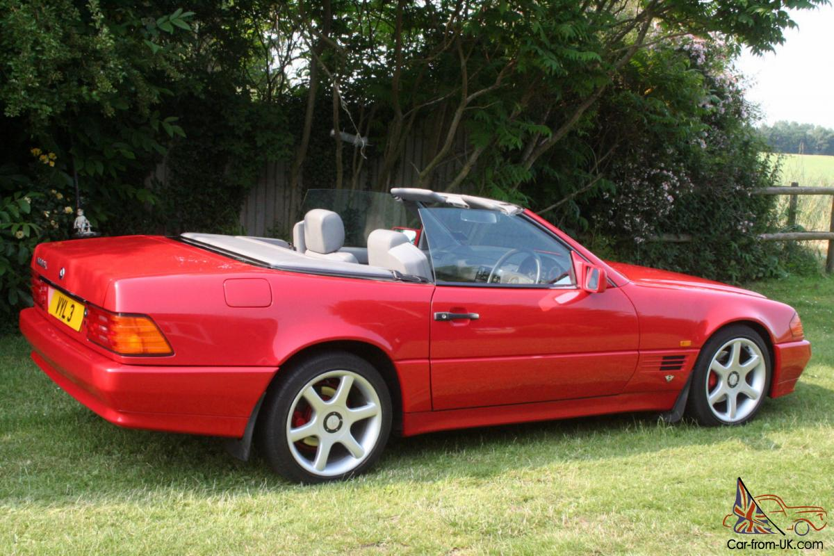 Mercedes benz sl 500 1992 bright red years tax and mot for 1992 mercedes benz sl500