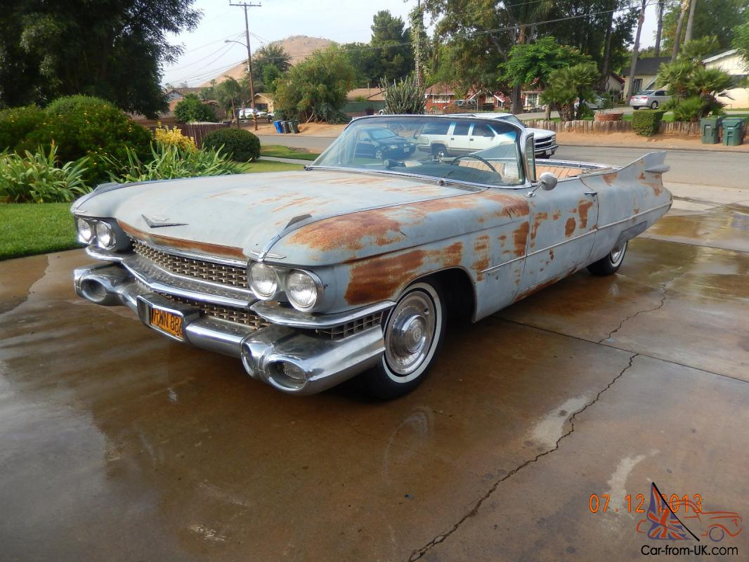 1959 Cadillac Convertible- California car w/ Yellow plates, LOADED