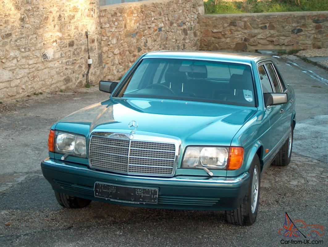 1991 mercedes 560 sel auto turquoise rare full spec 50 400 miles beautiful. Black Bedroom Furniture Sets. Home Design Ideas