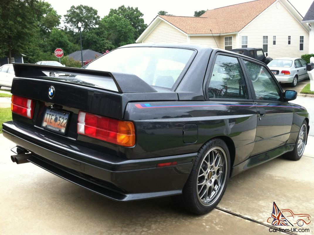 1988 Bmw E30 M3 Diamantschwarz With Black Leather Original S14
