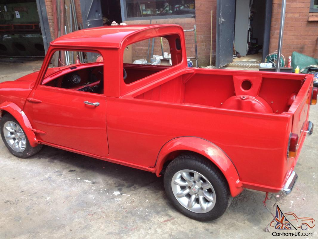 1980 austin morris classic mini pick up red pickup. Black Bedroom Furniture Sets. Home Design Ideas
