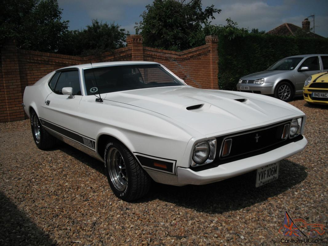 ford mustang mach 1 1973 76000 miles white mint condition. Black Bedroom Furniture Sets. Home Design Ideas