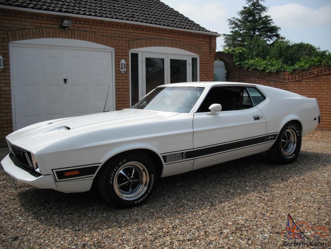 Car Sales Kings Lynn >> FORD MUSTANG MACH 1. 1973, 76000 MILES, WHITE MINT CONDITION