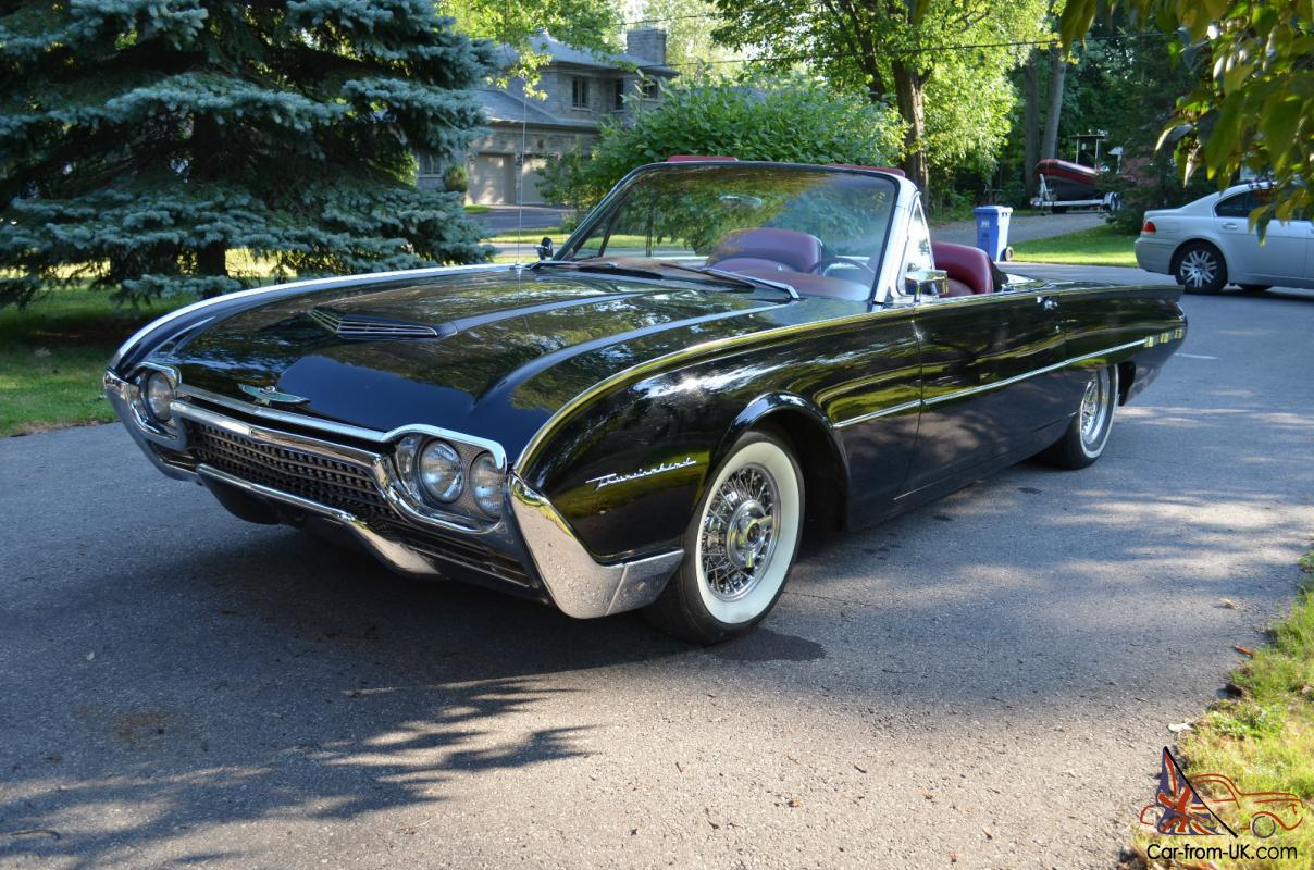 1961 Ford Thunderbird Convertible 390 Cubic Inch V8