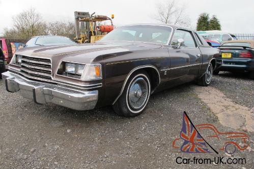 1979 dodge magnum 5 9 litre automatic only 9000 miles from new. Black Bedroom Furniture Sets. Home Design Ideas