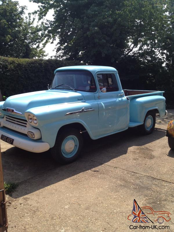 Chevy Apache 58 stepside truck right hand drive.stunning.hotrod.tax ...