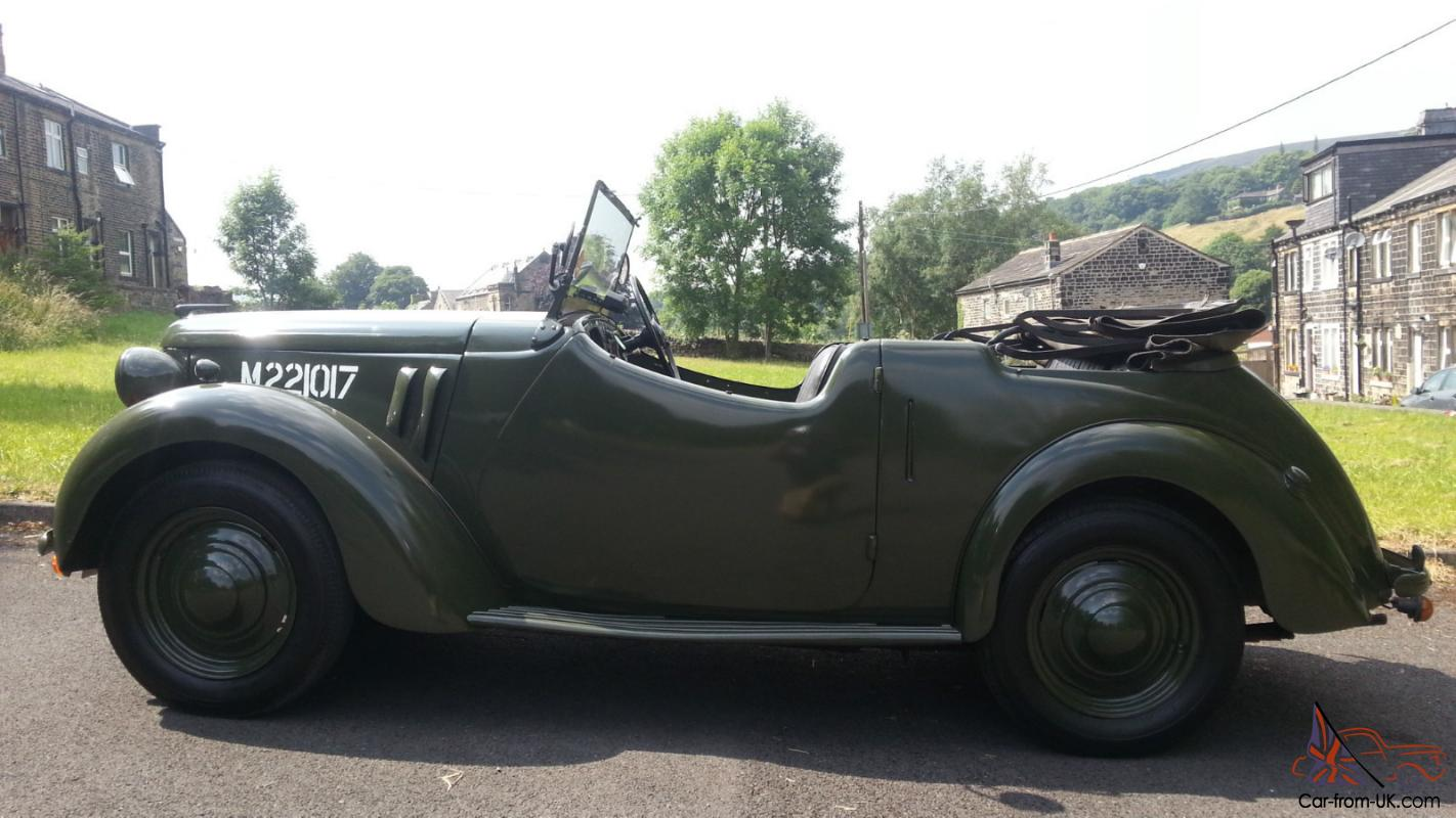 RARE 1939 Austin eight, WW2 British army Tourer,