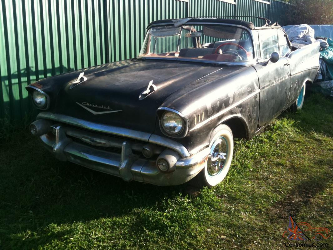 Untouched Original Black 1957 Chevrolet Belair Convertible All 1951 Bel Air Numbers Matching