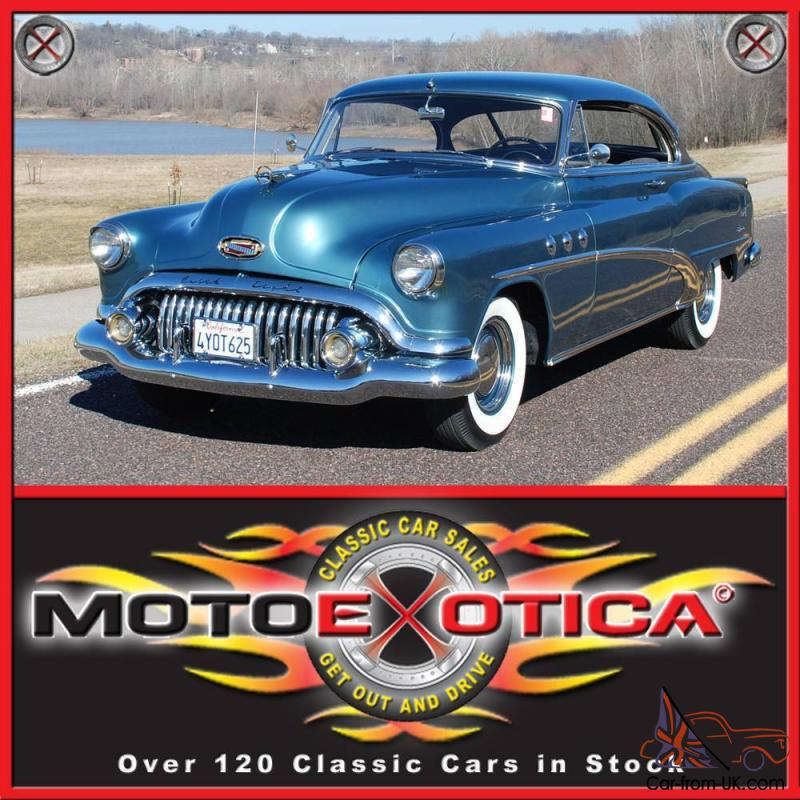 Buick Cars For Sale: 1952 BUICK SPECIAL RIVIERA TWO DOOR HARDTOP, NICELY RESTORED