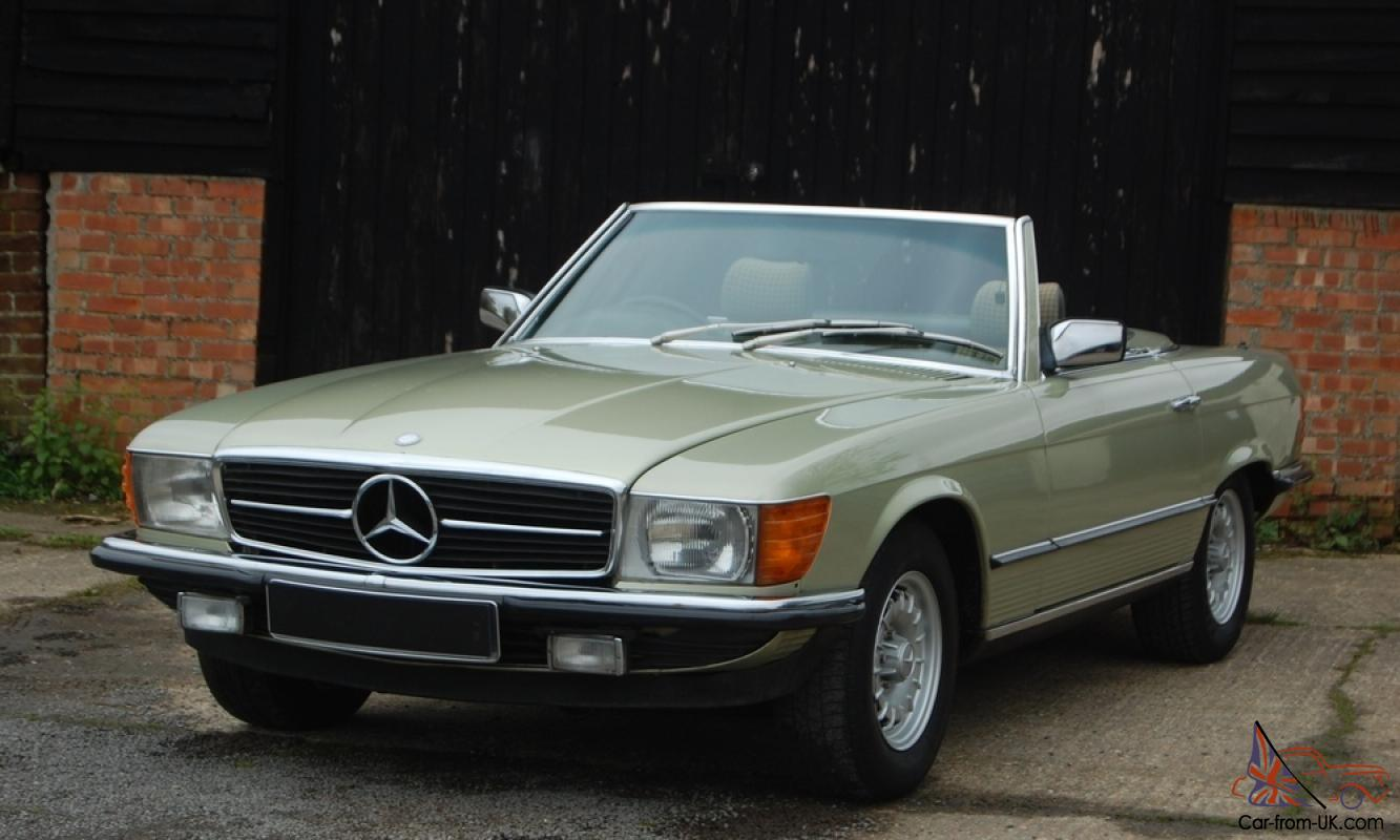 mercedes benz 380sl r107 low mileage v8 convertible