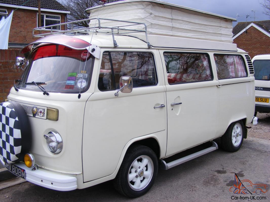 vw t2 devon pop top bay window campervan 1974. Black Bedroom Furniture Sets. Home Design Ideas
