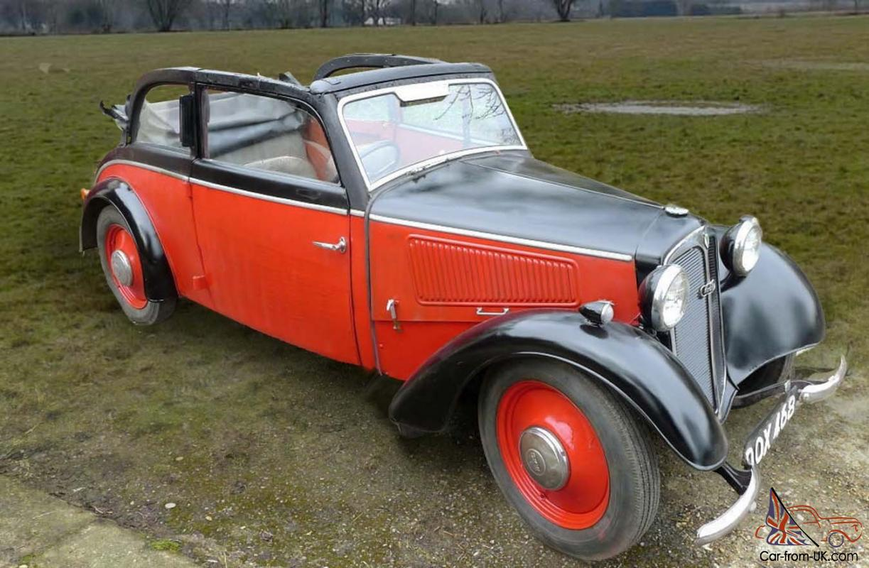 Dkw F7 Auto Union Cabriolet Convertible 4 Seater