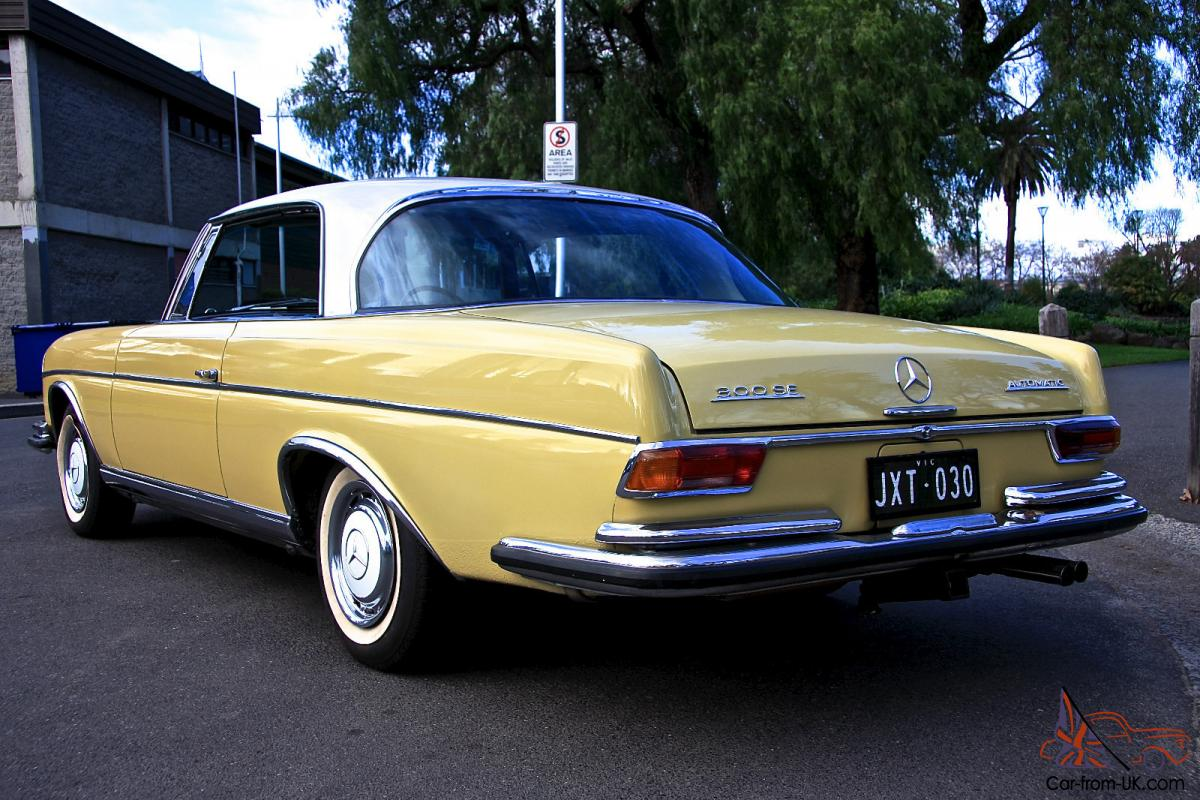 Mercedes benz 300se coupe 4 speed 1967 australian for Mercedes benz car history