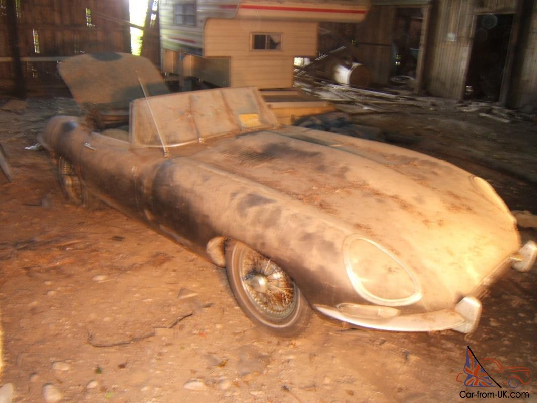 Jaguar E Type 1963 Roadster Matching Numbers Barn Find After 35 Years