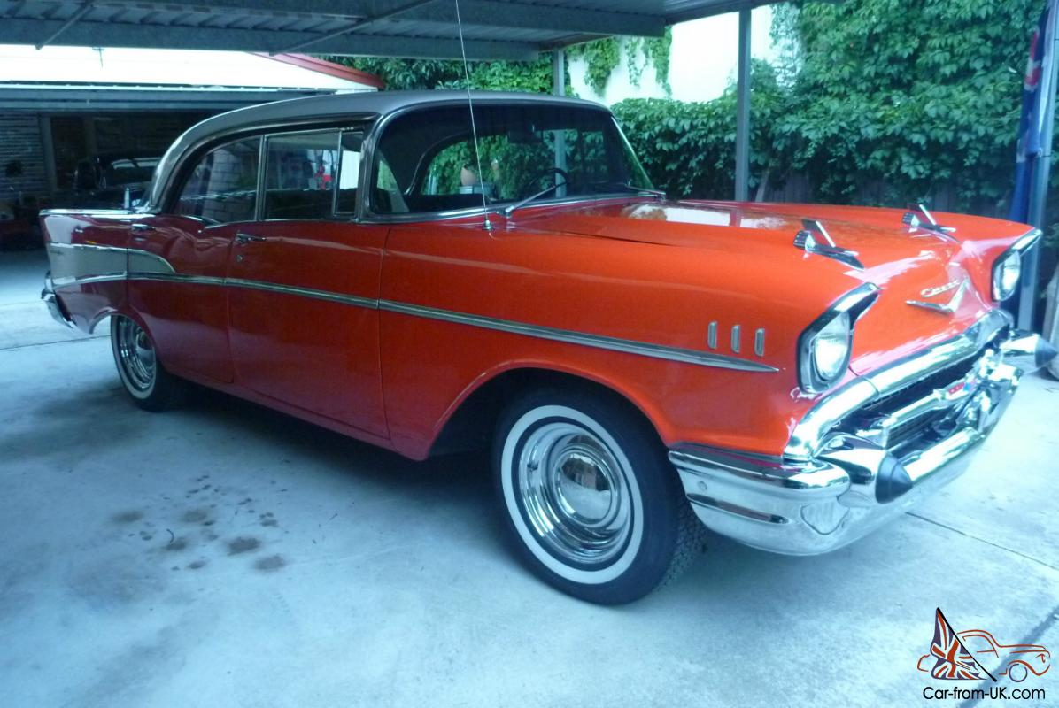 chevy 1957 four door hard top cool old school driver can part trade. Black Bedroom Furniture Sets. Home Design Ideas
