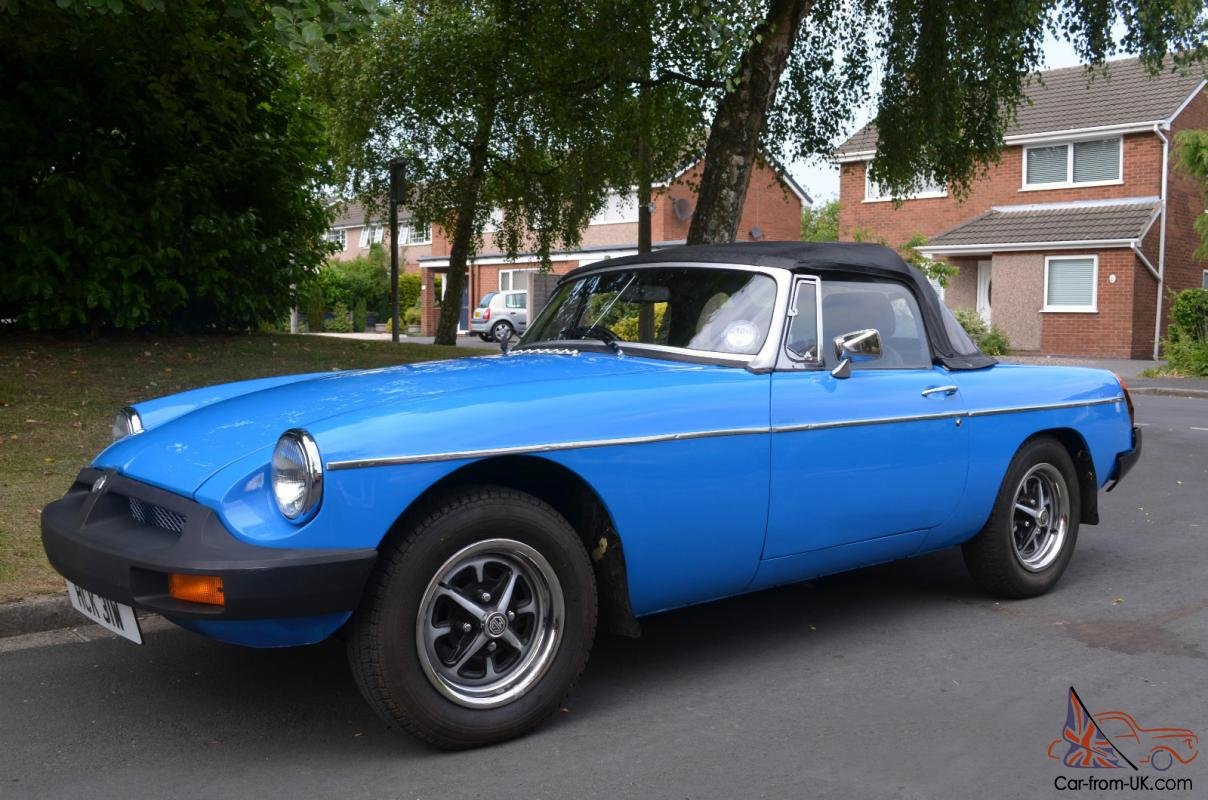 Mgb Roadster In Pageant Blue 1981