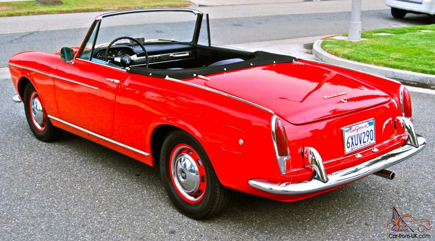 1961 fiat 1200 cabriolet w 1500 twin cam 5 speed fresh restoration excellent. Black Bedroom Furniture Sets. Home Design Ideas